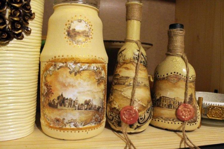 Декупаж бутылок - Декор бутылок своими руками