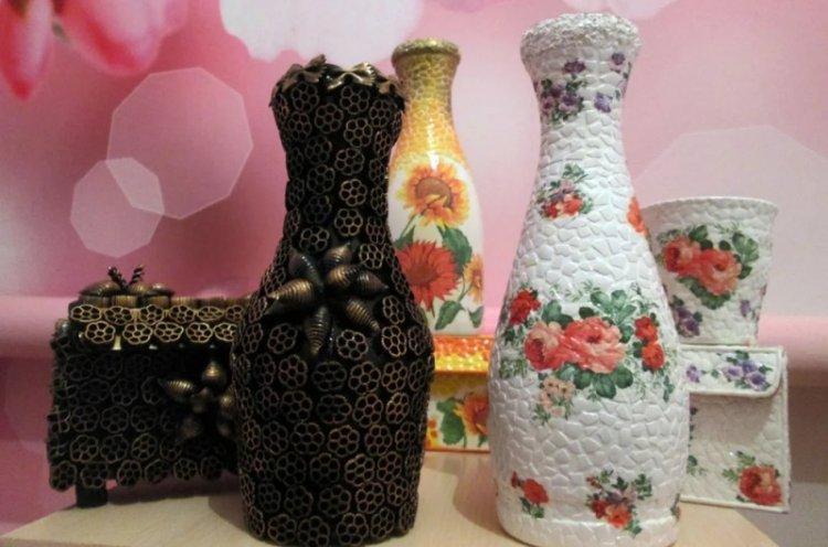 Декор бутылок своими руками - фото и идеи