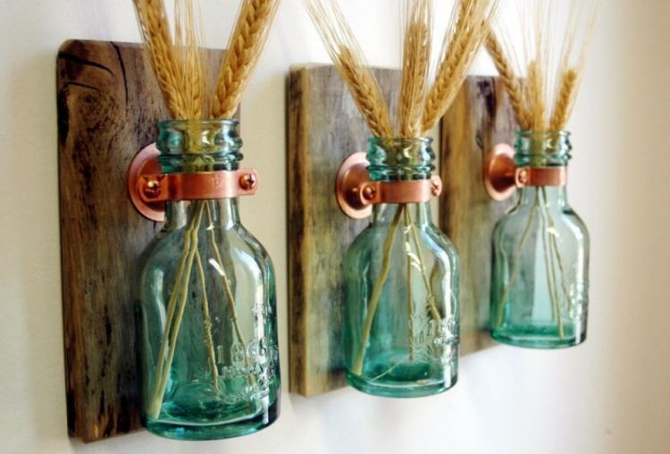 Декор бутылок - Декор комнаты своими руками