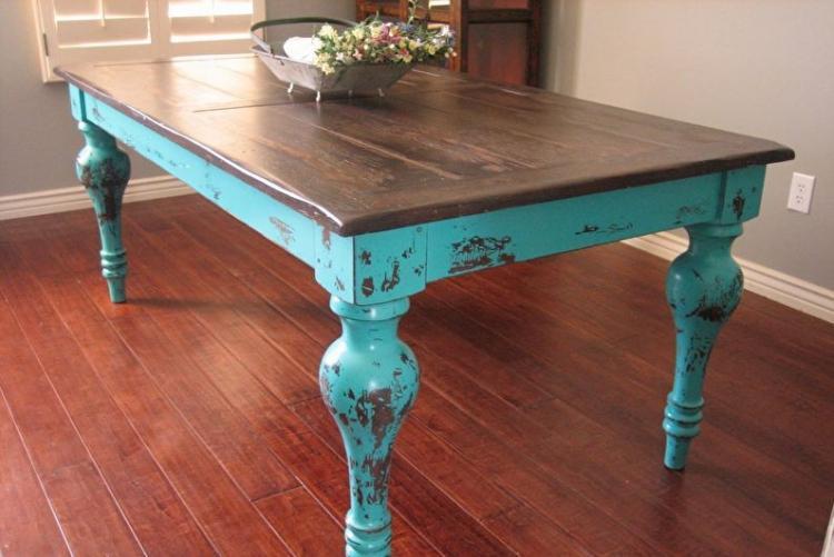 Кракелюр - Декор старого стола своими руками