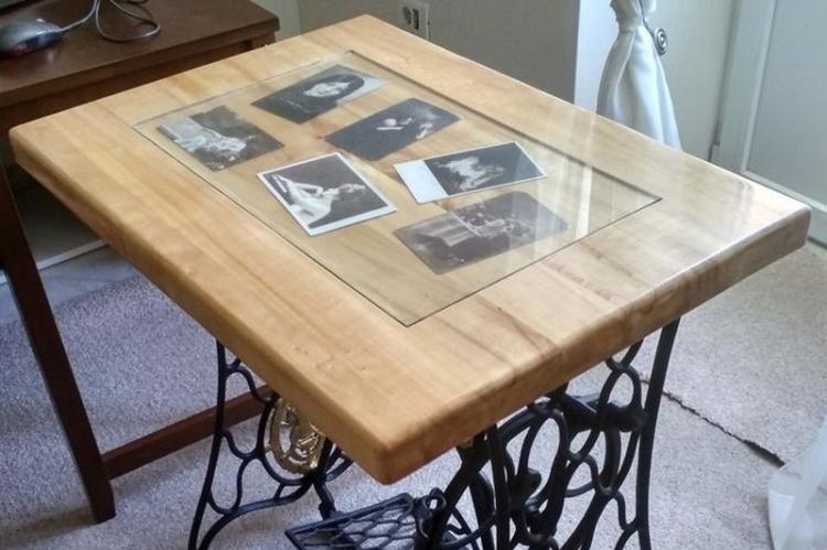 Фотоколлаж - Декор старого стола своими руками
