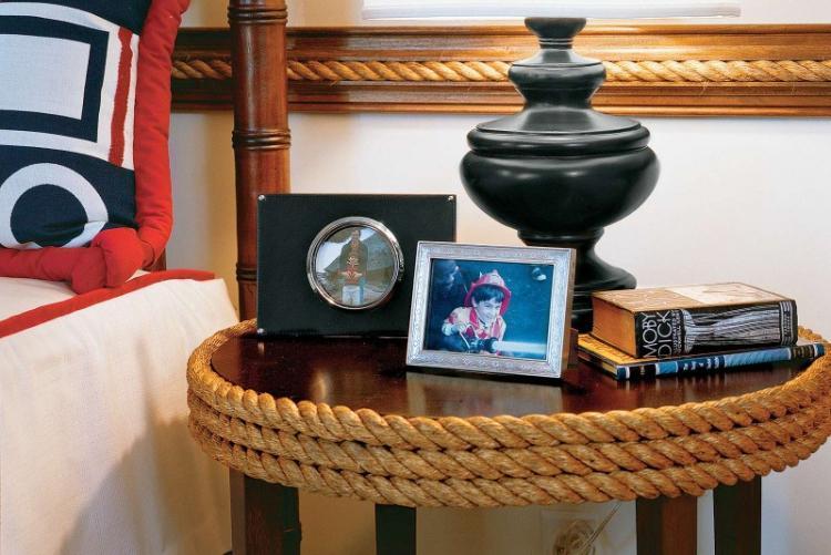 Крученая веревка - Декор старого стола своими руками