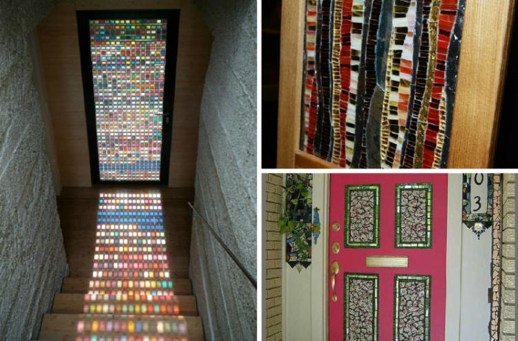 Мозаика - Декор старых дверей своими руками