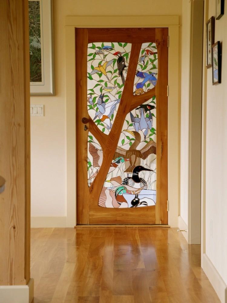 Витражи - Декор старых дверей своими руками
