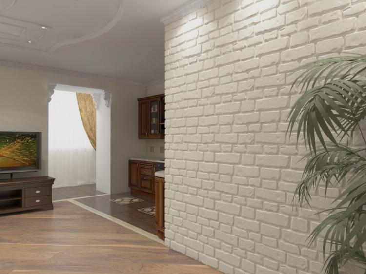 Декоративный камень в интерьере - фото