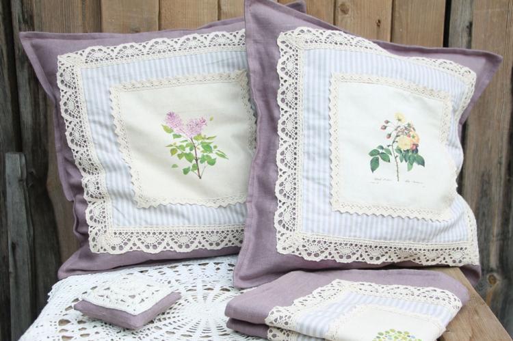 Изящный прованс - Декоративные подушки своими руками