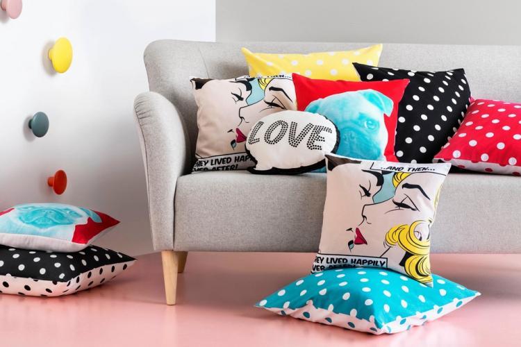 Экстравагантный поп-арт - Декоративные подушки своими руками
