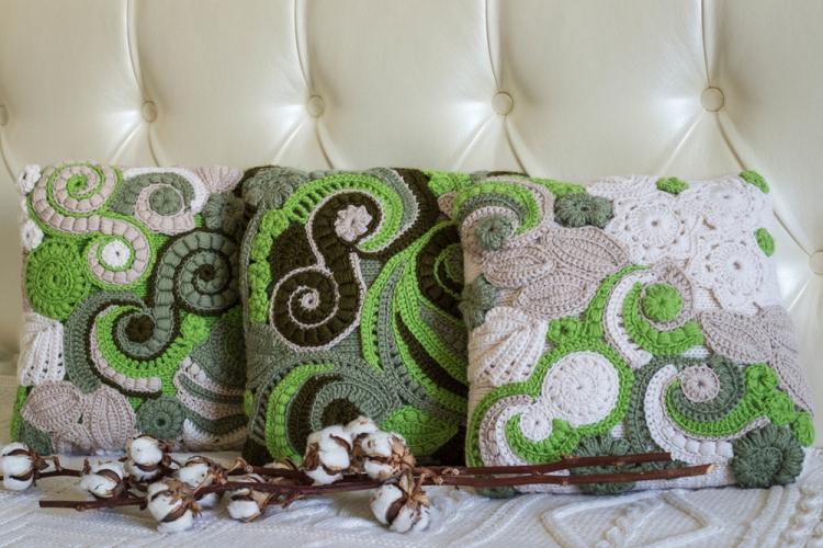 Вязаная подушка - Выкройки и идеи для декоративных подушек своими руками