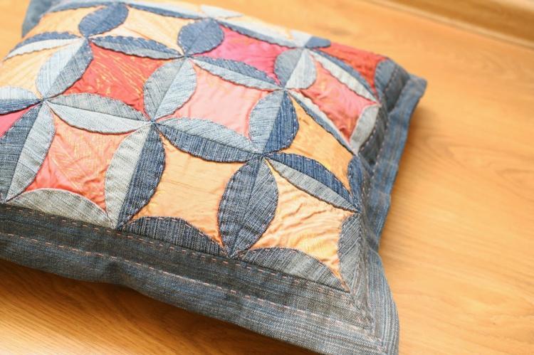 Джинсовые подушки - Выкройки и идеи для декоративных подушек своими руками