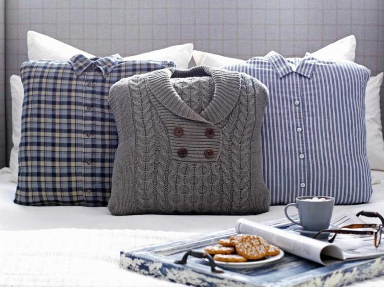 Подушка из старой одежды - Выкройки и идеи для декоративных подушек своими руками