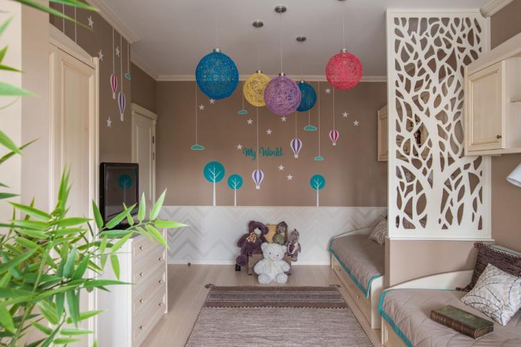 Гипсокартонные конструкции - Зонирование детской комнаты для разнополых детей