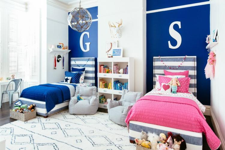 Установка кровати - Дизайн детской для разнополых детей