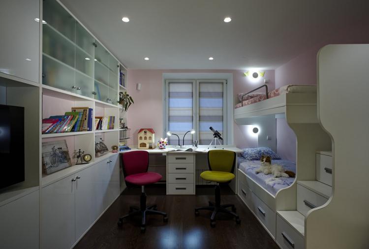 Искусственное освещение - Дизайн детской для разнополых детей