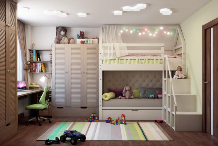 Общая тема - Цветовые решения детской комнаты для разнополых детей
