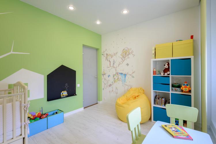 Детская комната для разнополых детей в стиле минимализм - Дизайн интерьера
