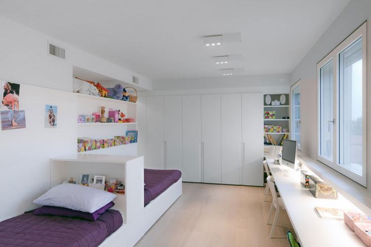 Детская комната для разнополых детей в стиле хай-тек - Дизайн интерьера