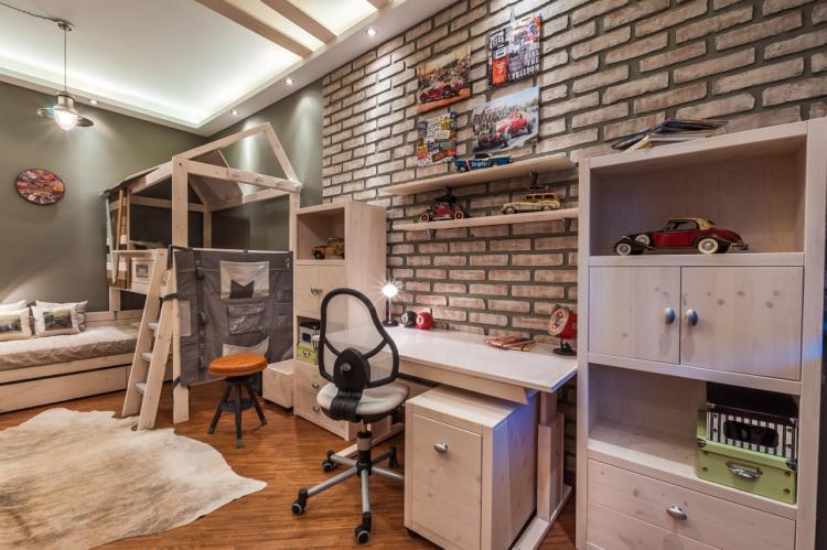 Детская комната для разнополых детей в стиле лофт - Дизайн интерьера
