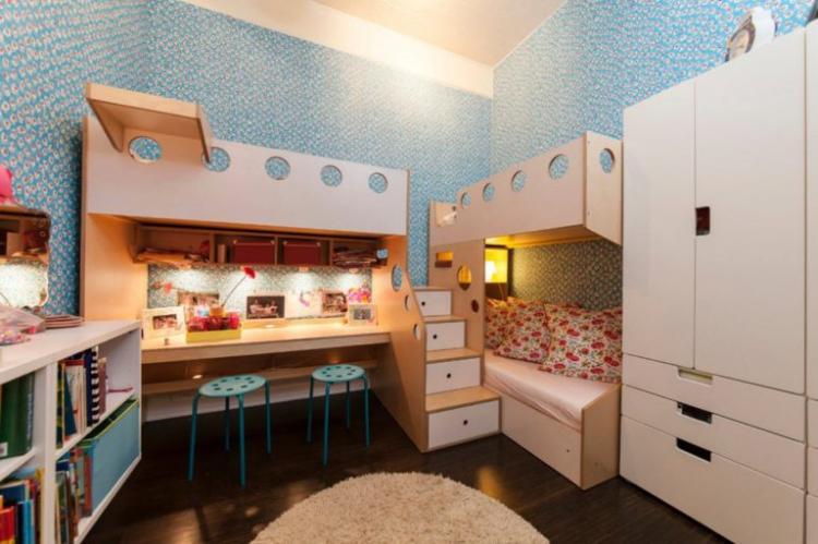 Детская комната для разнополых детей в классическом стиле - Дизайн интерьера
