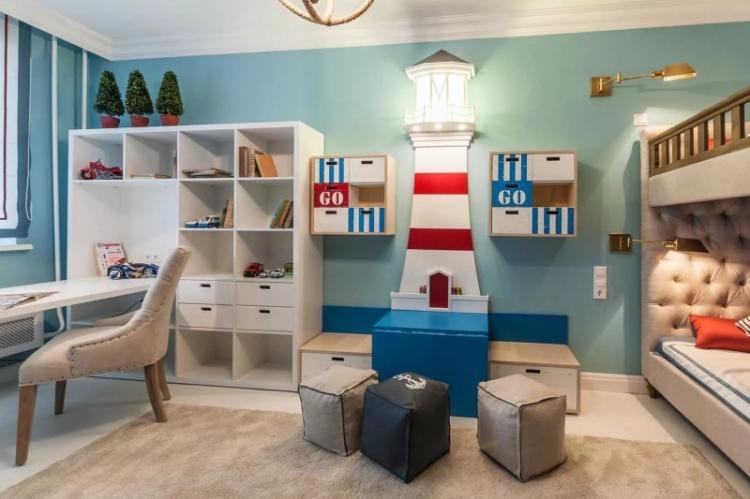 Дизайн интерьера детской комнаты для разнополых детей - фото