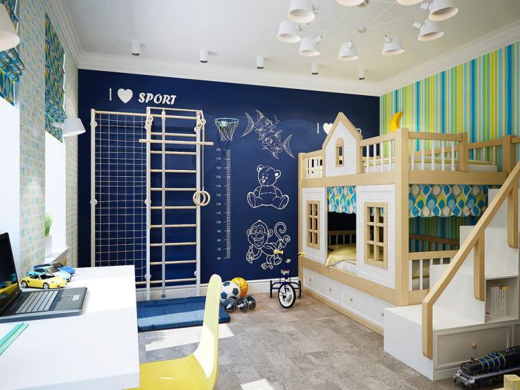 Детская комната 23 кв.м. - дизайн интерьера