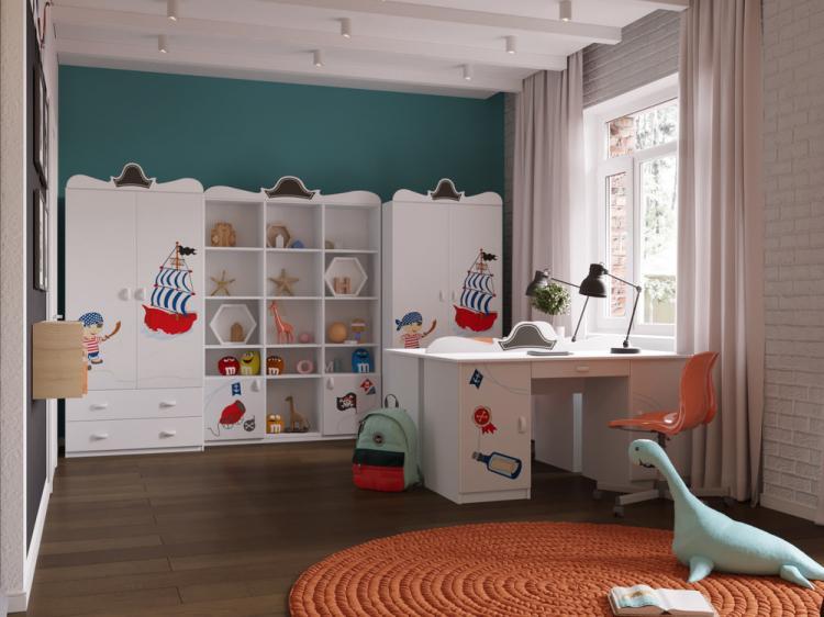 Детская комната для братьев-близнецов - дизайн интерьера