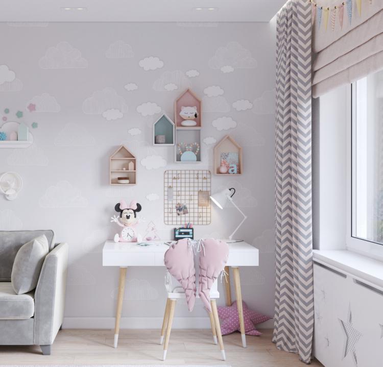 Детская комната для девочки 6ти лет - дизайн интерьера