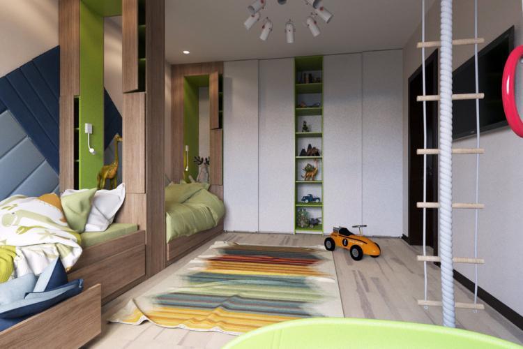Детская комната для двух мальчиков - дизайн интерьера