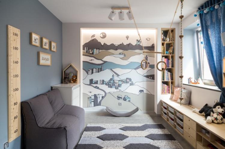 Дизайн детской комнаты для мальчика 3-5 лет