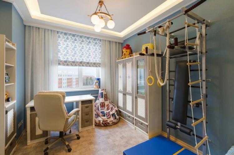 Обустройство спортивного уголка - Дизайн детской комнаты для мальчика