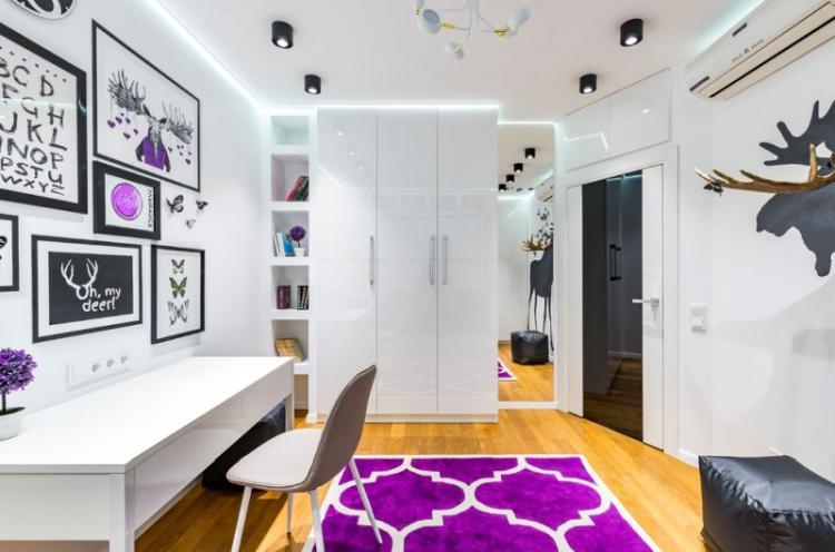 Белая детская комната для мальчика - Дизайн интерьера