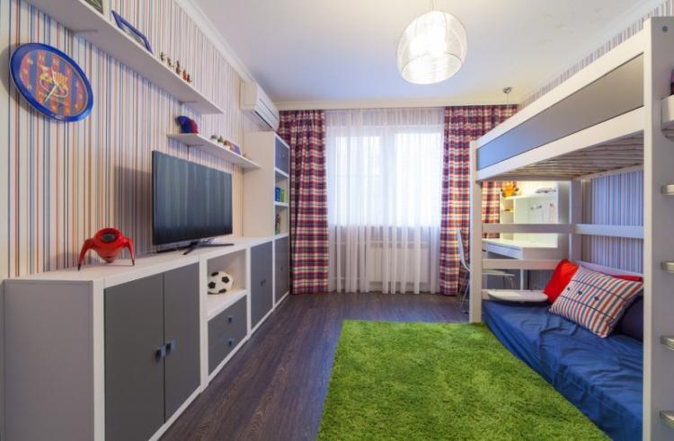 Красная детская комната для мальчика - Дизайн интерьера