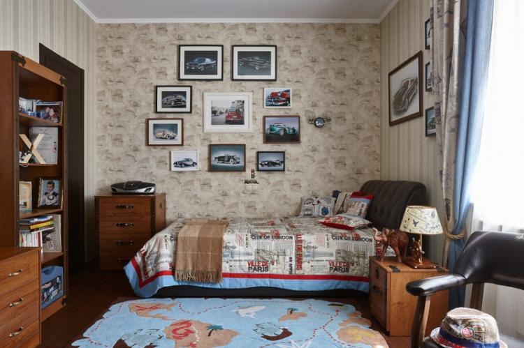 Дизайн детской комнаты для мальчика в классическом стиле