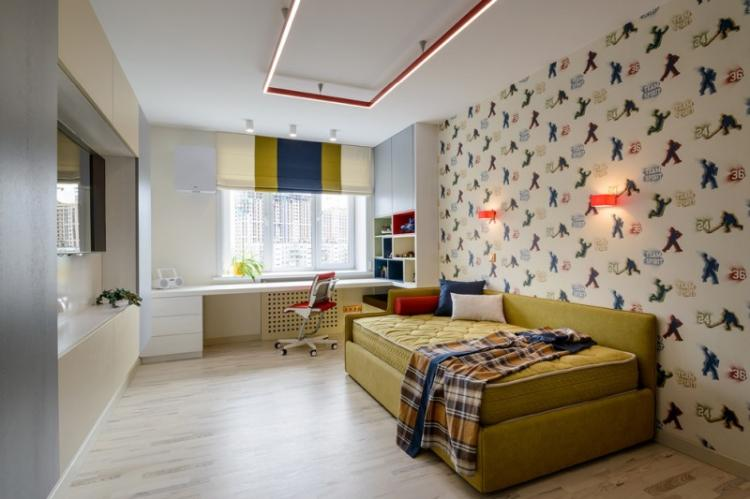 Дизайн детской комнаты для мальчика в стиле минимализм