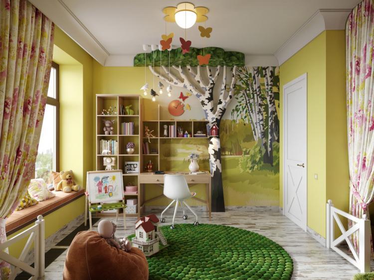 Интерьер детской комнаты «Милая деревня»