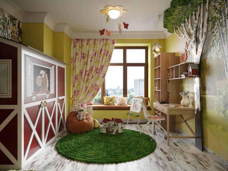 Детская комната «Милая деревня» - дизайн интерьера
