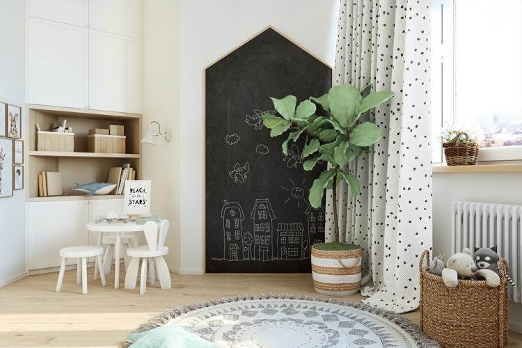 Детская комната «С видом на облака» - дизайн интерьера