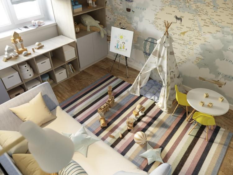 Детская комната «Вселенная для первооткрывателя» - дизайн интерьера