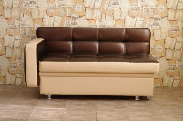Компактные мини-диваны - Прямые диваны для кухни