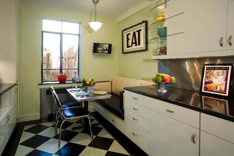 Совмещенные диваны - Прямые диваны для кухни