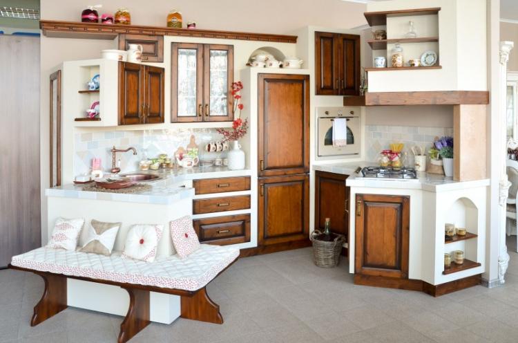 Диван для кухни в стиле кантри