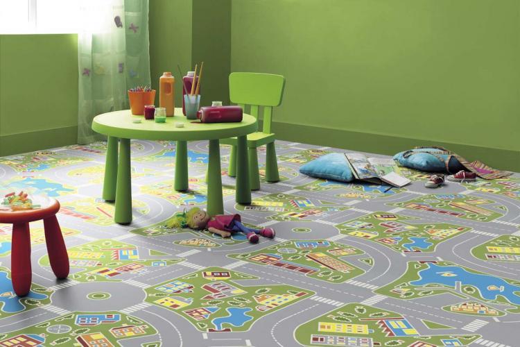 Отделка пола - Дизайн детской комнаты для девочки