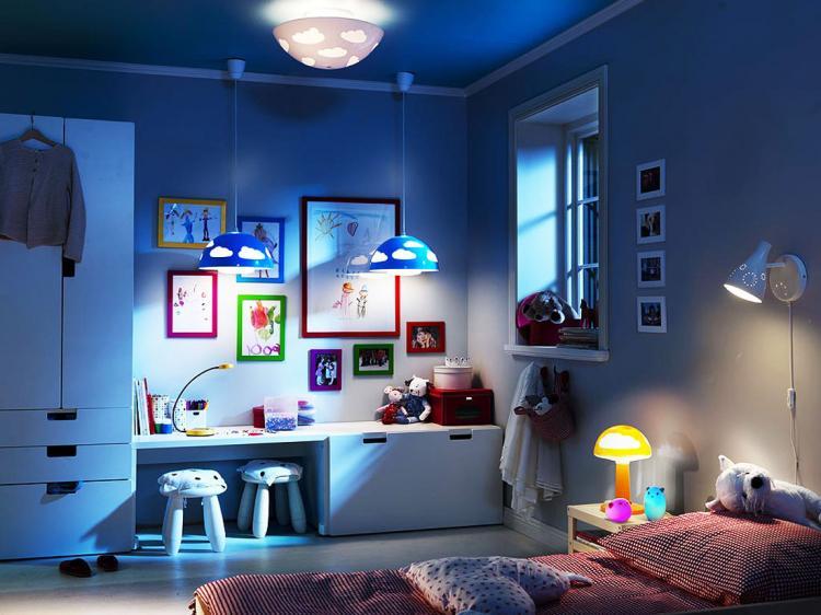 Освещение и подсветка - Дизайн детской комнаты для девочки