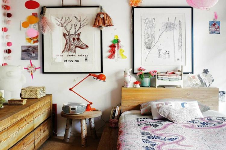 Детская для девочки в стиле бохо - Дизайн интерьера