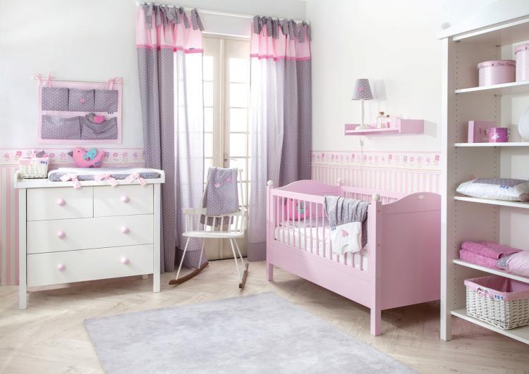 Розовая детская комната для девочки - Дизайн интерьера
