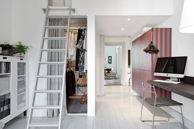 Гардеробная под лестницей - Дизайн интерьера