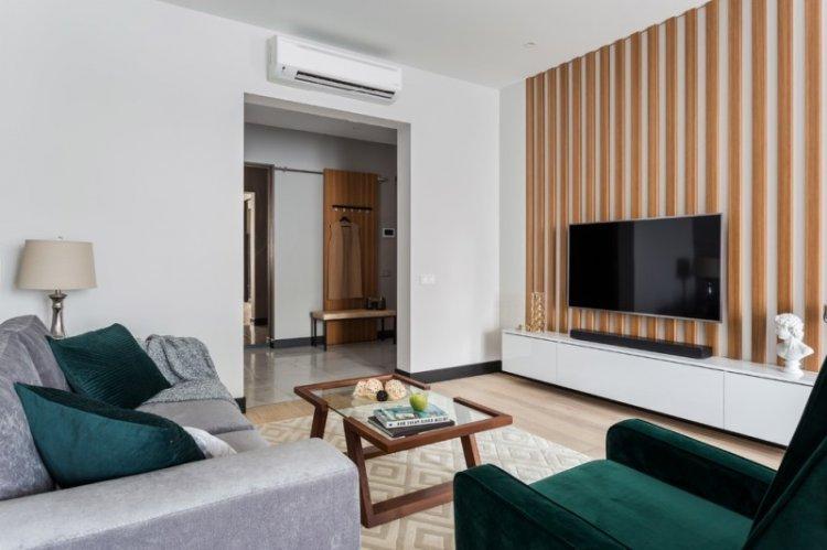 Гостиная 15 кв.м. в современном стиле - Дизайн интерьера
