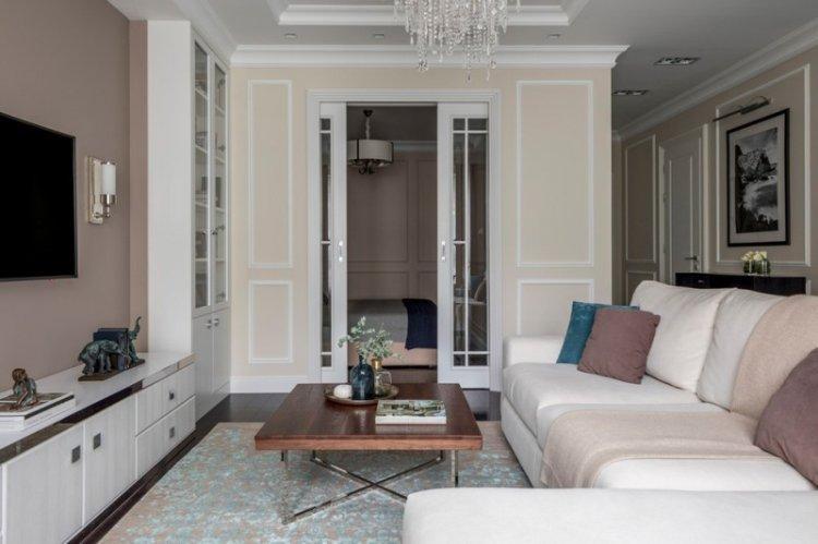 Гостиная 15 кв.м. в классическом стиле - Дизайн интерьера