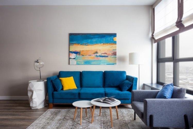 Отделка пола - Дизайн гостиной 15 кв.м.