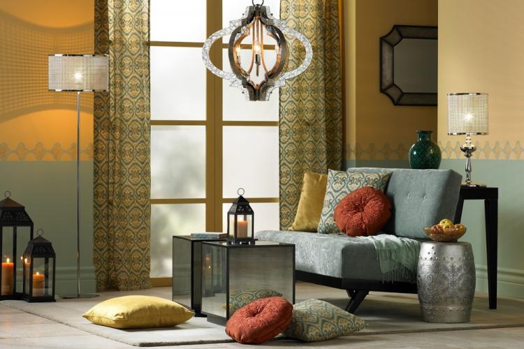 Гостиная 16 кв.м. в марокканском стиле - Дизайн интерьера