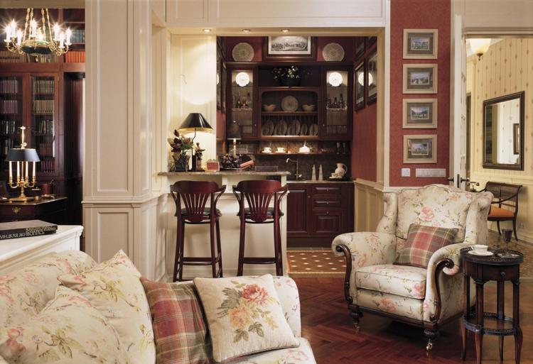 Гостиная 16 кв.м. в викторианском стиле - Дизайн интерьера